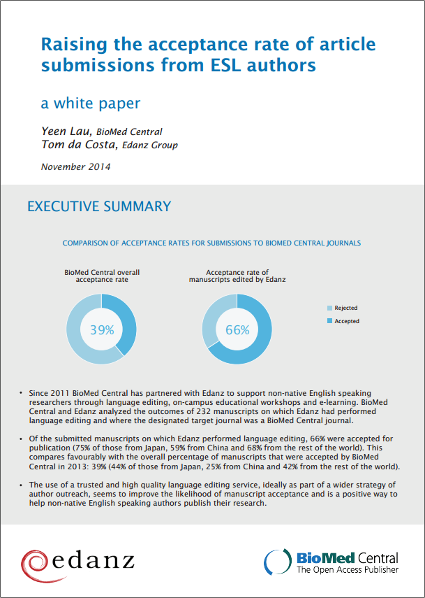 BioMed Central & Edanz White Paper