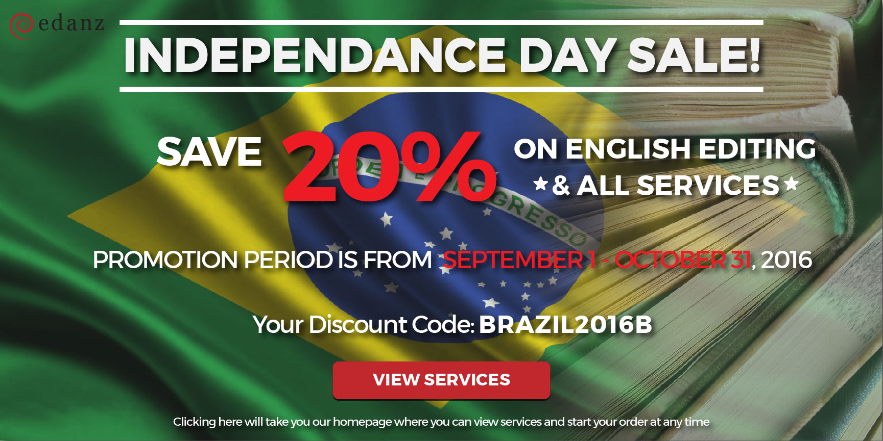 edanz editing indepedence day discount