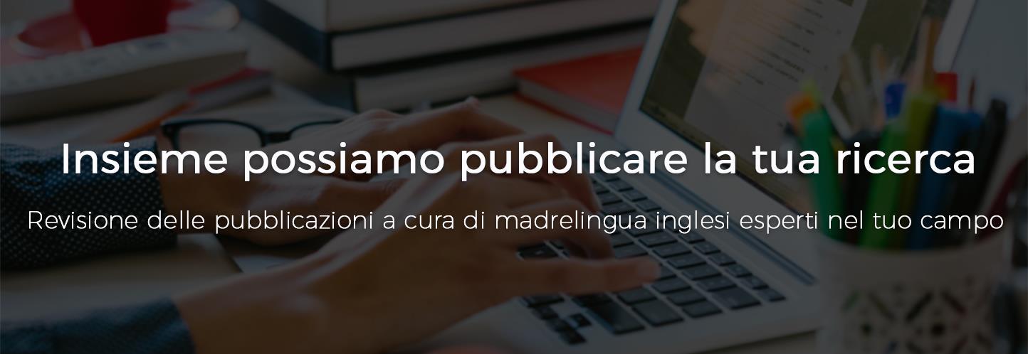 Insieme possiamo pubblicare la tua ricerca