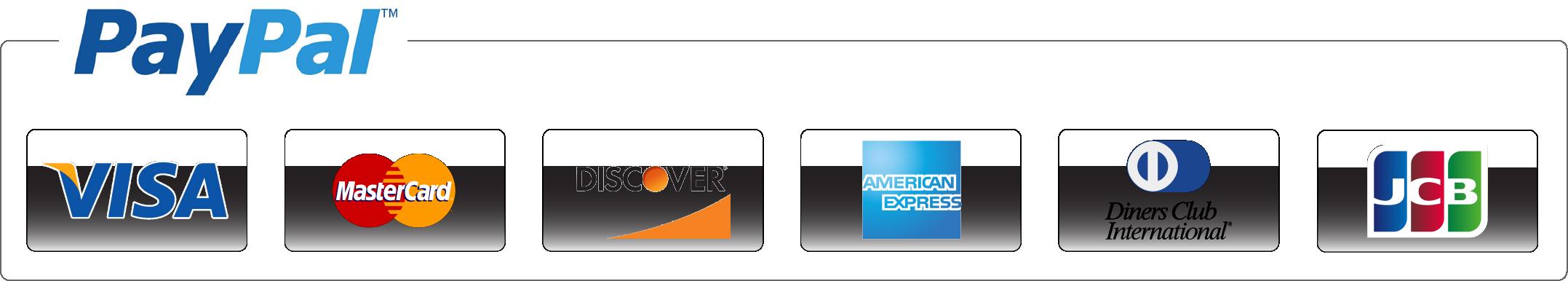 Billedresultat for Visa, Mastercard, American Express, Discover, Diners Club, JCB